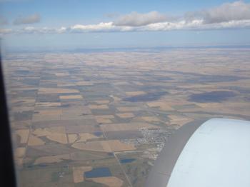 広がるカルガリーの農地