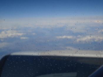 窓の外は氷の世界