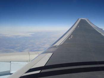 アラスカ上空